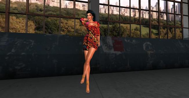 Dress Mini Boheme - Sweater Print_002
